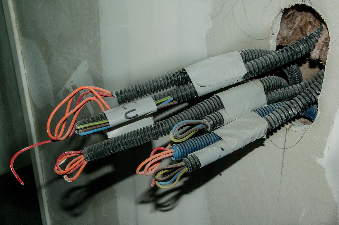 Elektroinstallation Stromkabel