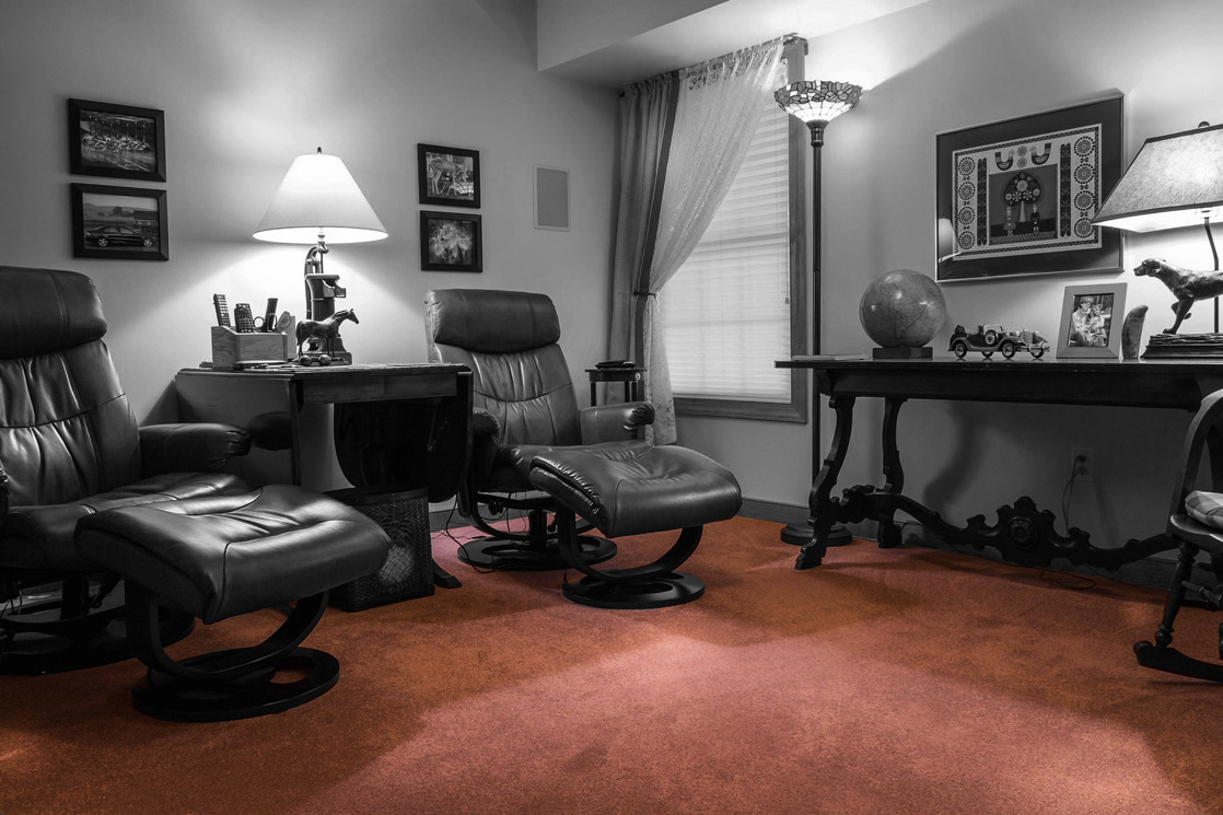 Teppicharbeiten im Wohnzimmer