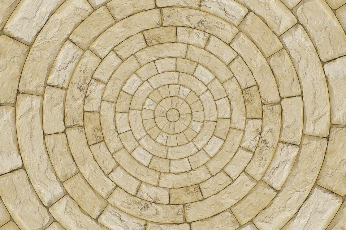 pflasterarbeiten in beigen steinen